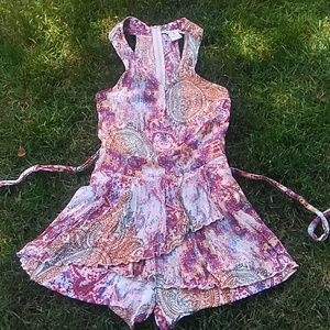 American Rag Romper Size 7 Colorful 100% Rayon